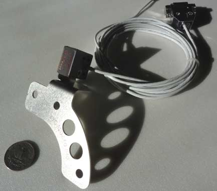 LSE DC Mini Sensor and Lycoming Mounting bracket. Designed for LSE Plasma CDI electronic ignition.