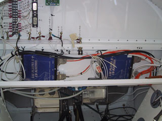 RV-8 ignition module installation.
